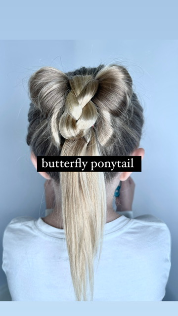 butterfly ponytail hair tutorial
