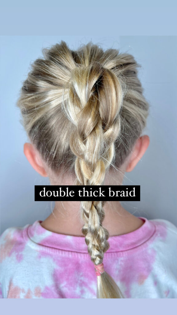 Double Thick Braid Hairstyle for Girls