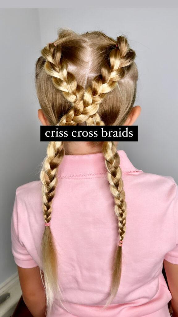 Criss Cross Braid Hair Tutorial