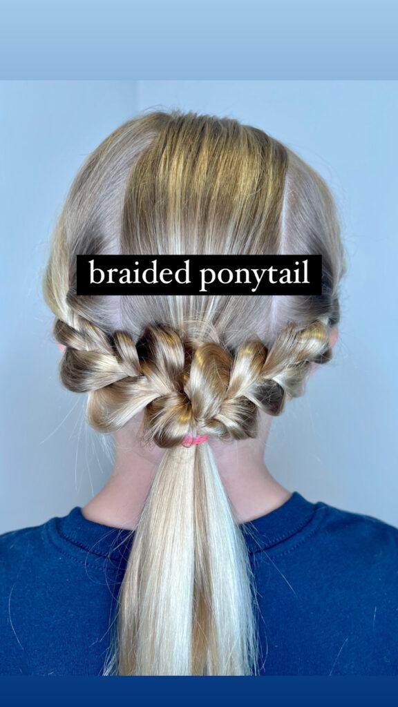 Simple Braided Ponytail