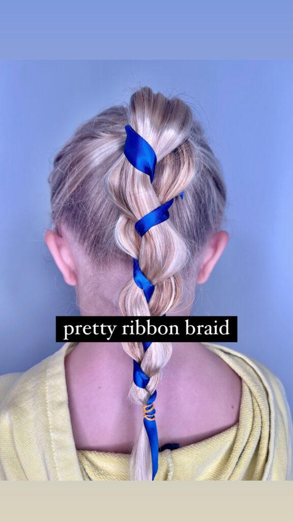 Ribbon Braid Hairstyle