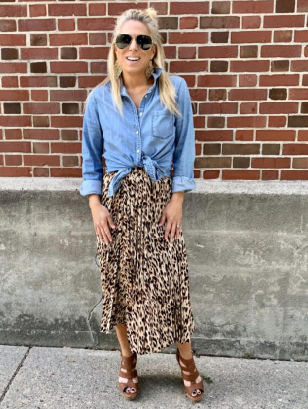 What shirts to wear with maxi skirts