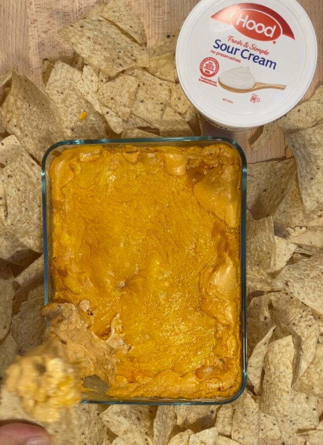 Buffalo Chicken Dip with Sour Cream