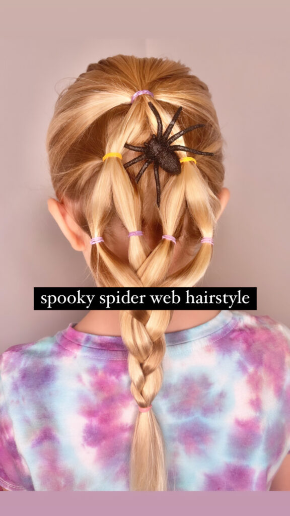 Spooky Spider Web Hairstyle