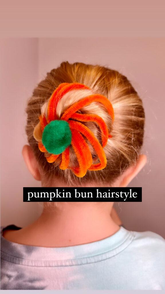 Pumpkin Bun Hair Tutorial