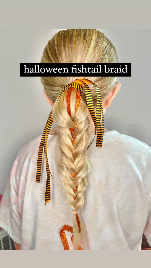 Halloween Fishtail Braid