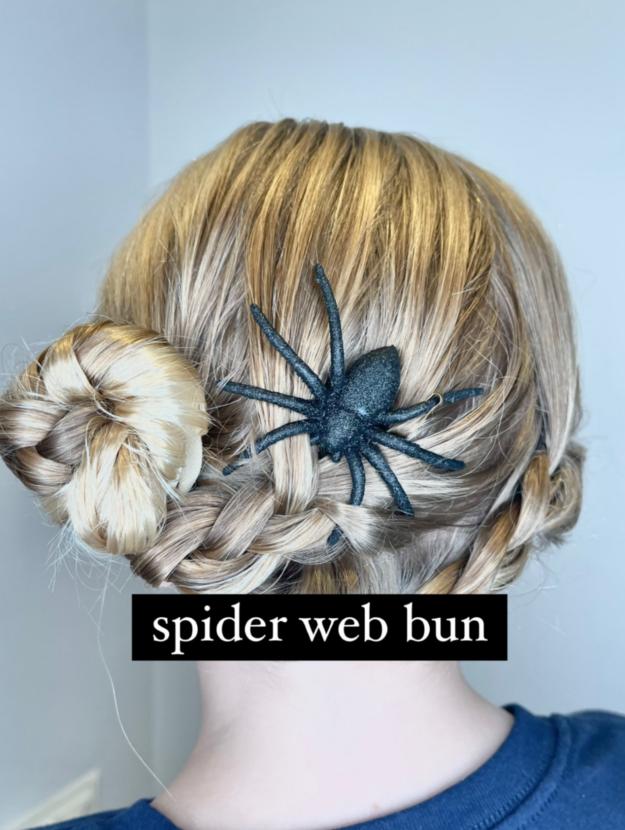 Spider Web Bun Hairstyles