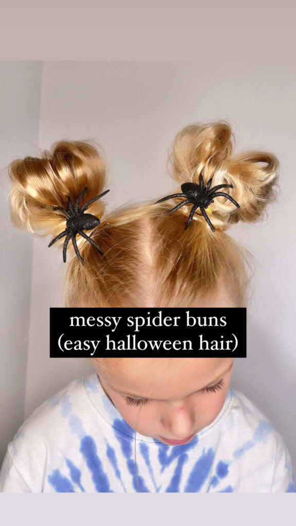 Spooky Spider Hairstyle