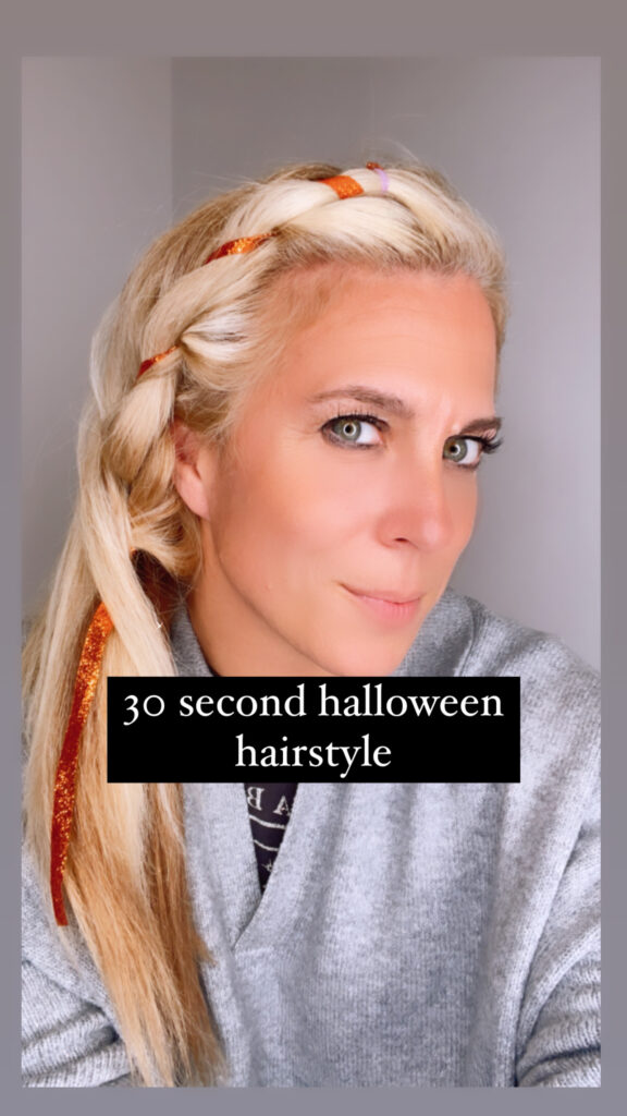 30 second Halloween Hairstyle