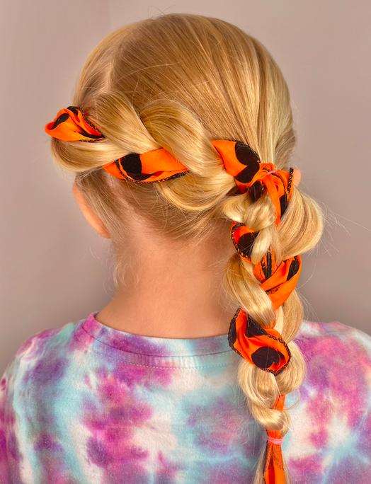 Cute Ribbon Side Braid